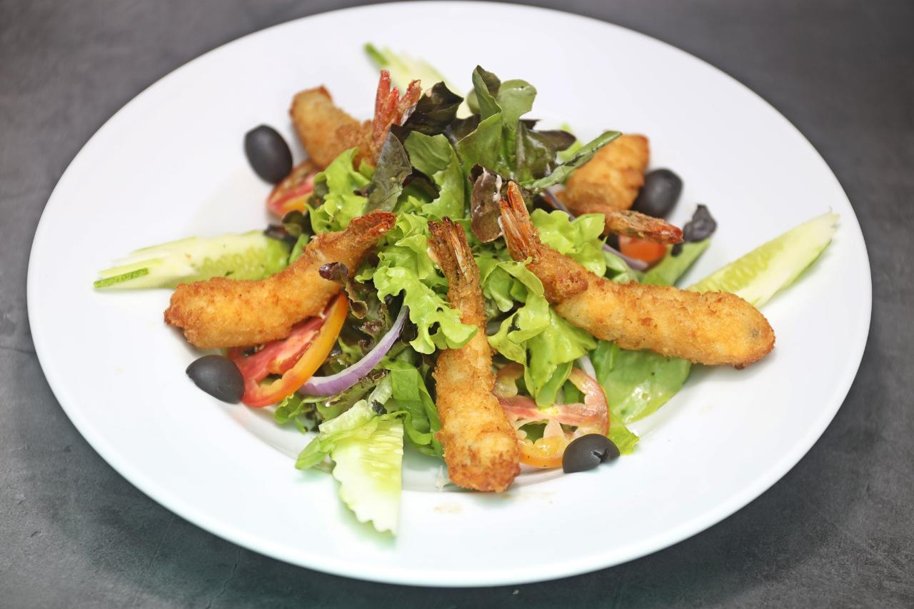 Deep Fried Shrimp Salad