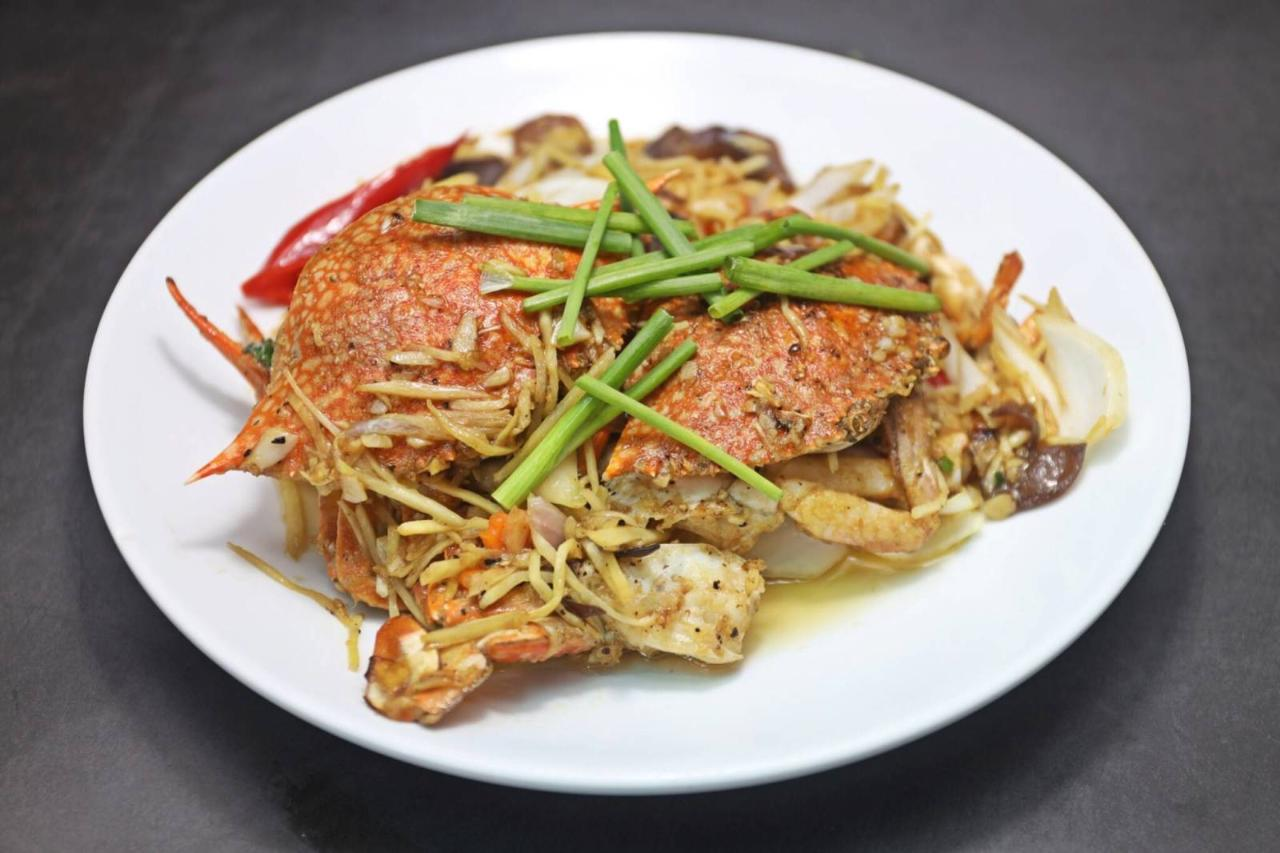 Stir-Fried Blue Crab with Ginger